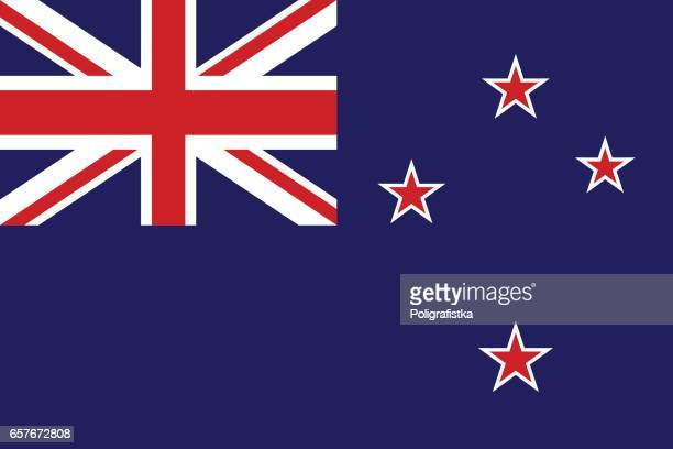 flag of new zealand - new zealand stock illustrations