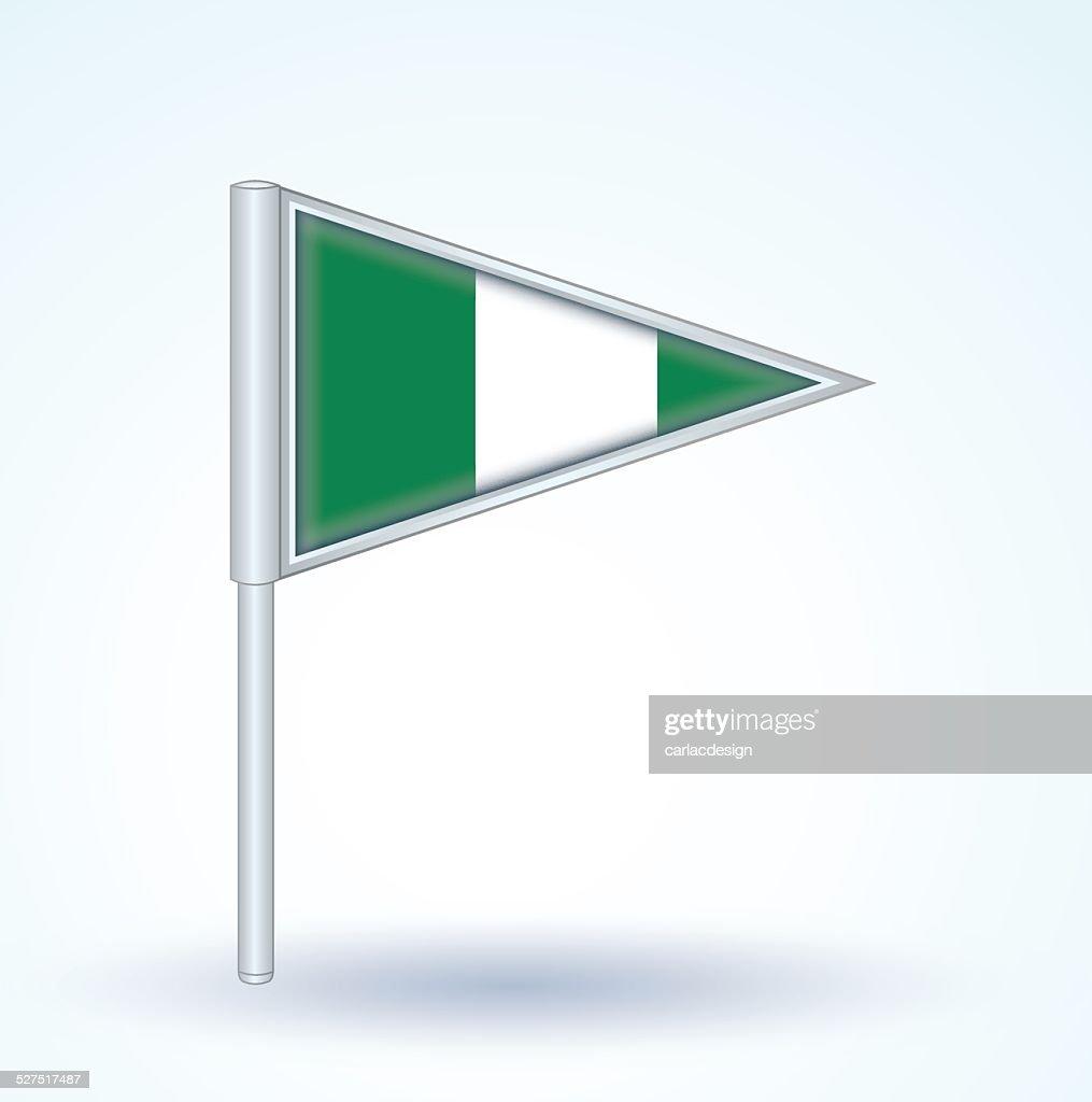 Flag of Nigeria, vector illustration