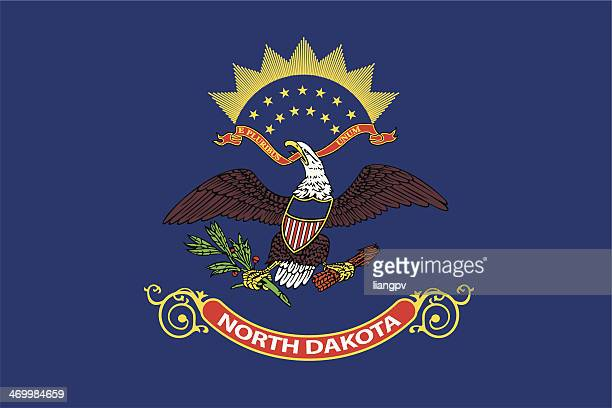 flag of north dakota - north dakota stock illustrations