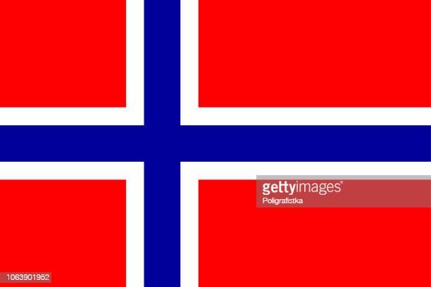 flagge norwegens - norwegen stock-grafiken, -clipart, -cartoons und -symbole