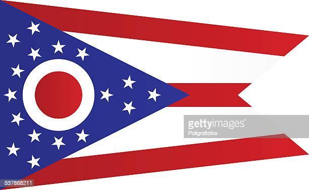 ilustrações de stock, clip art, desenhos animados e ícones de bandeira de ohio - ohio
