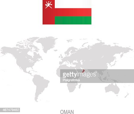 Map Of Oman Vector Art Getty Images - Oman in world map