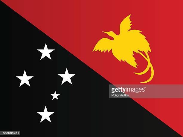 flag of papua new guinea - papua new guinea stock illustrations