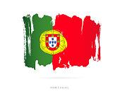 Flag of Portugal. Vector illustration