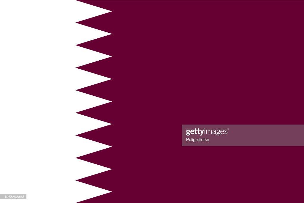 Flag of Qatar : stock illustration