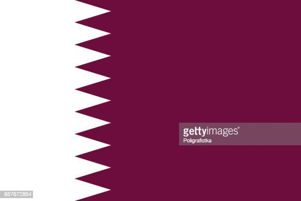 flag of qatar - qatar stock illustrations
