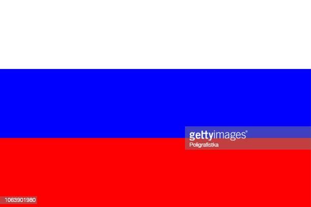 flagge von russland - russische flagge stock-grafiken, -clipart, -cartoons und -symbole
