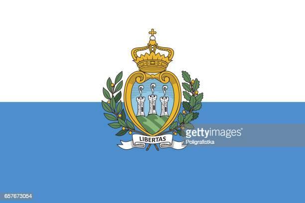 flag of san marino - republic of san marino stock illustrations