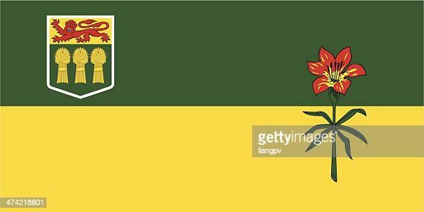 flag of saskatchewan - saskatchewan stock illustrations