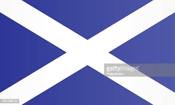 flagge von schottland - scotland stock-grafiken, -clipart, -cartoons und -symbole
