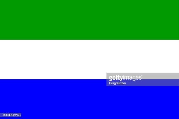 flag of sierra leone - sierra leone stock illustrations