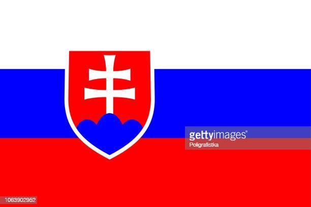 flag of slovakia - slovakia stock illustrations