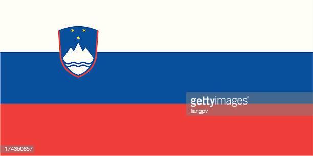 flagge von slowenien - slowenien stock-grafiken, -clipart, -cartoons und -symbole