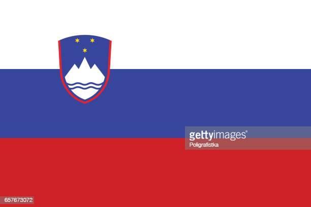 スロベニア国旗  - スロベニア国旗点のイラスト素材/クリップアート素材/マンガ素材/アイコン素材