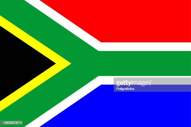 ilustrações, clipart, desenhos animados e ícones de bandeira da áfrica do sul - bandeira sul africana