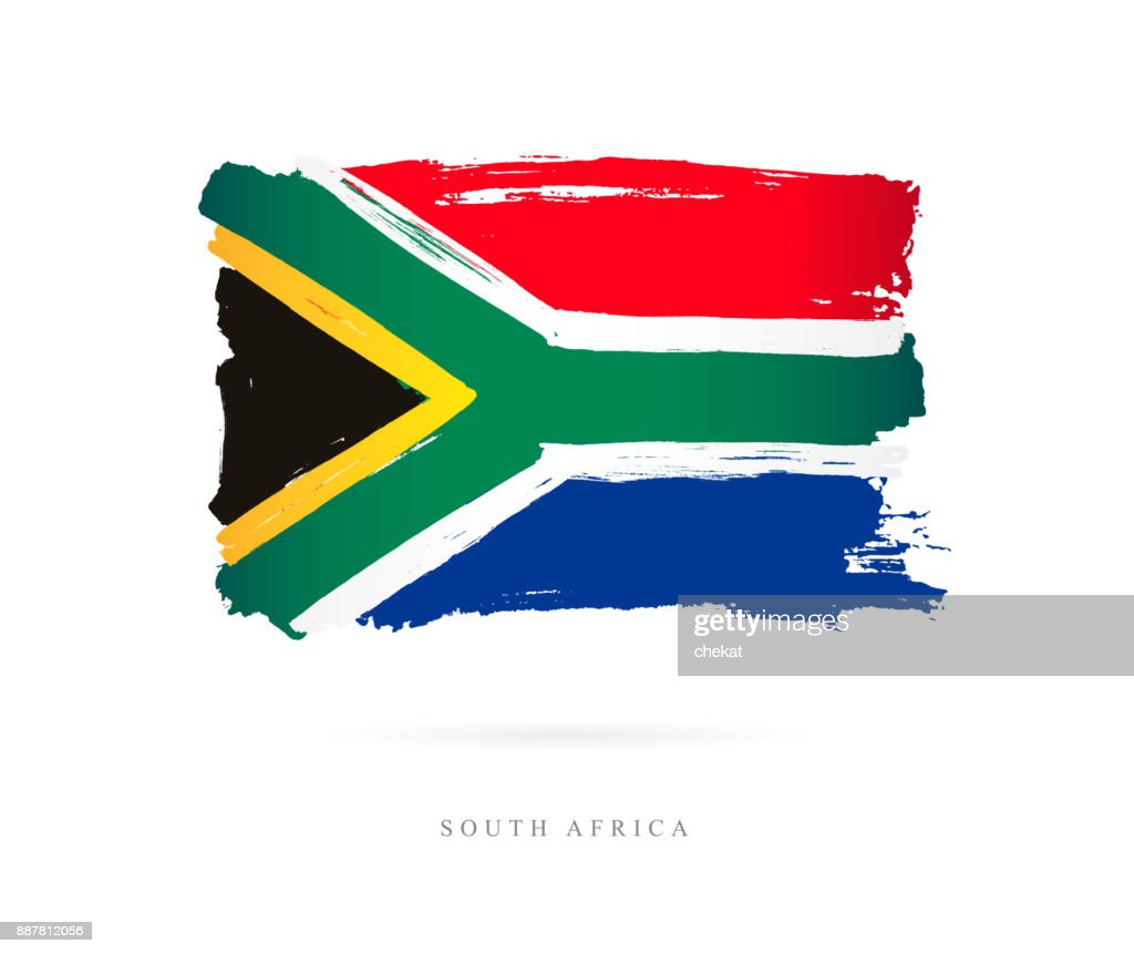 Flag of South Africa. Vector illustration