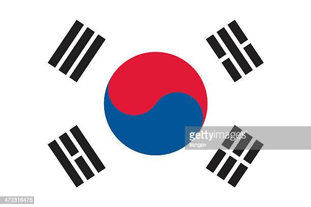 flag of south korea - south korea stock illustrations