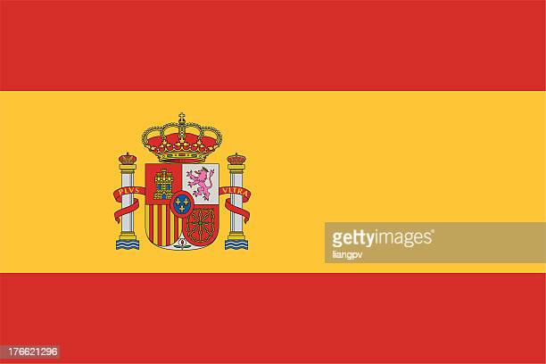 flag of spain icon with no background - spain stock illustrations