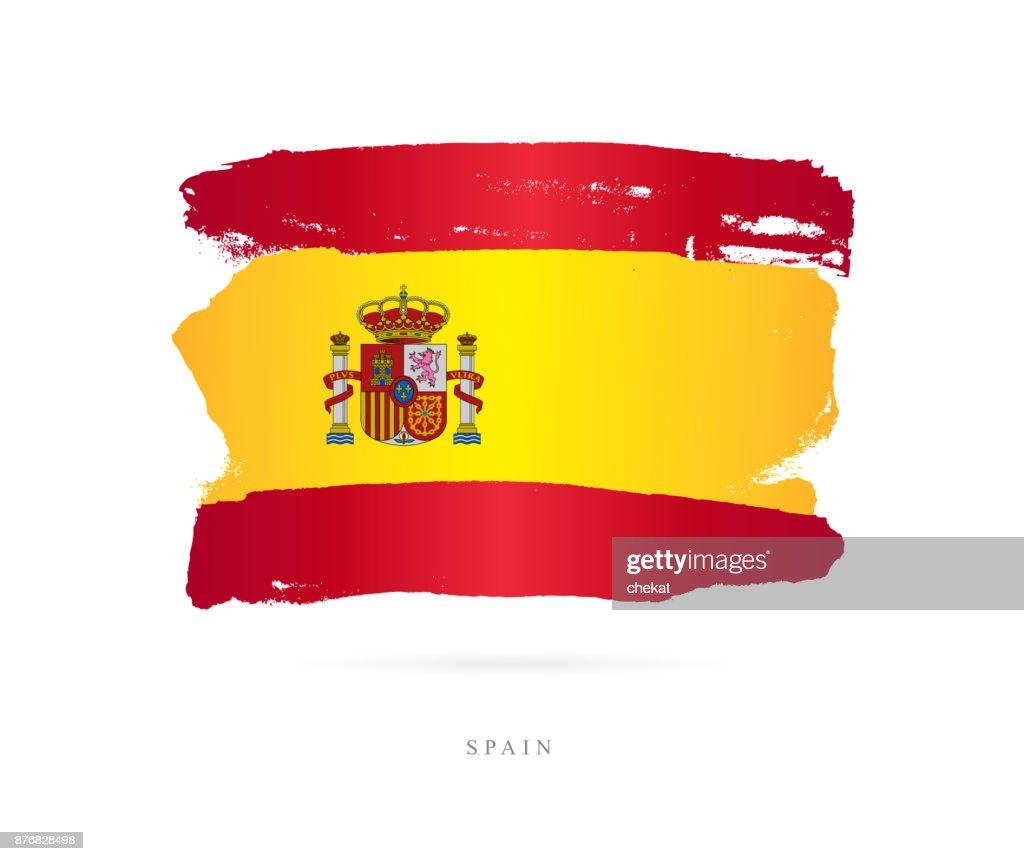 Flag of Spain. Vector illustration