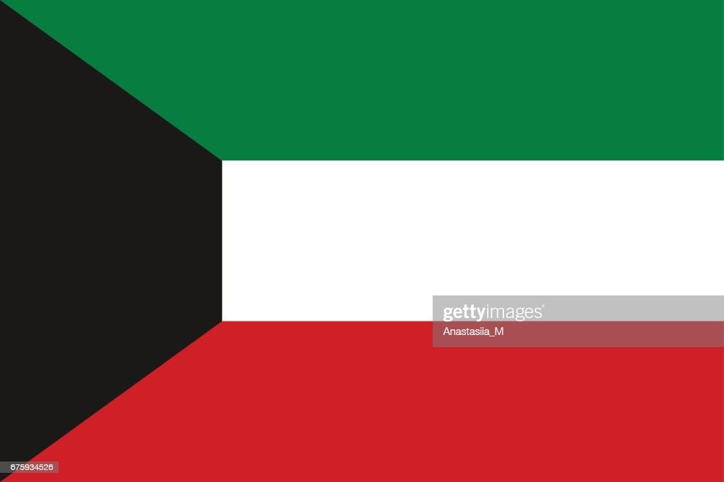 Flag of state of Kuwait.