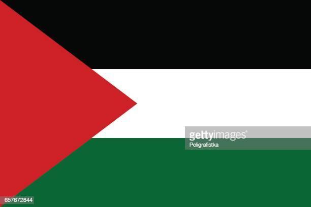 stockillustraties, clipart, cartoons en iconen met vlag van de staat palestina - palestijnse gebieden