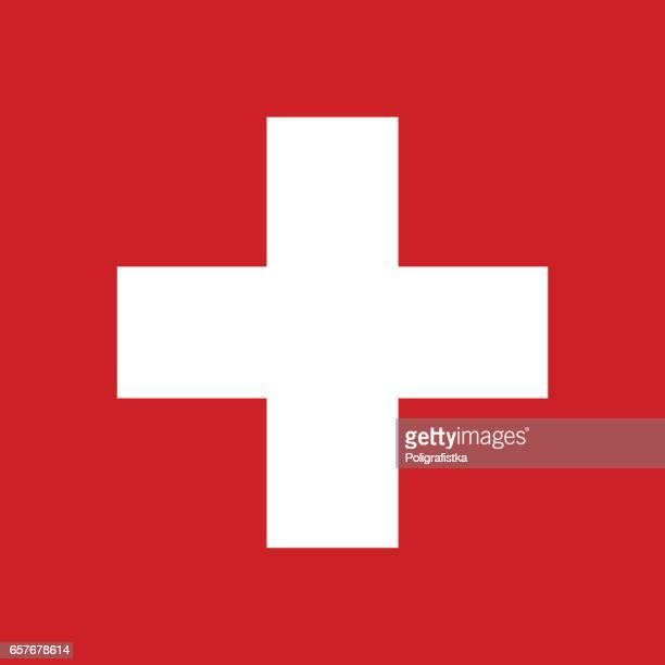 60点のスイス国旗のイラスト素材クリップアート素材マンガ素材