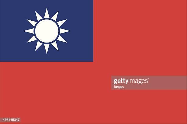 flag of taiwan - taiwan stock illustrations
