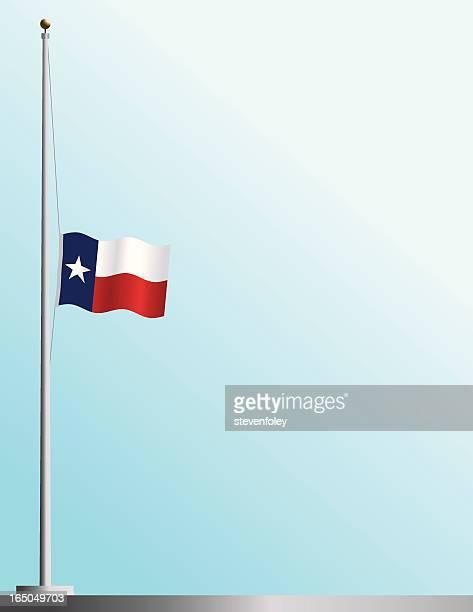 Flagge von Texas in Half-Mitarbeiter