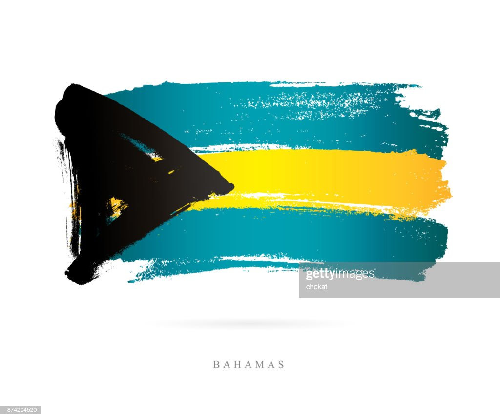 Flag of the Bahamas. Vector illustration