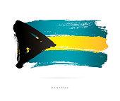 Flag of the Bahamas. Vector illustration