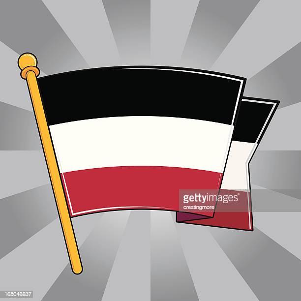 flag of the german empire - fascism stock illustrations