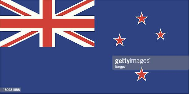 flag of the new zealand - new zealand stock illustrations
