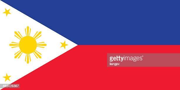 illustrazioni stock, clip art, cartoni animati e icone di tendenza di bandiera delle filippine - bandiera