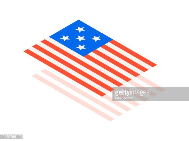 flag of the united states of america - bill of rights stock illustrations