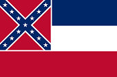 Flag of the USA State of Mississippi, vector.