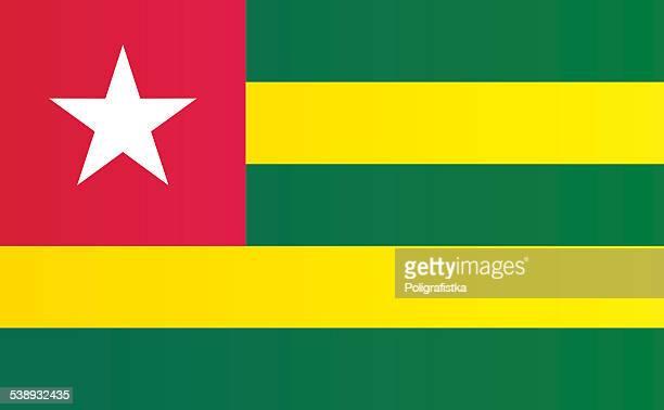 flag of togo - togo stock illustrations