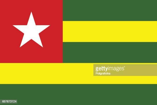 flag of togo - togo stock illustrations, clip art, cartoons, & icons