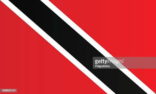 トリニダードトバゴ共和国国旗 - トリニダードトバゴ共和国点のイラスト素材/クリップアート素材/マンガ素材/アイコン素材