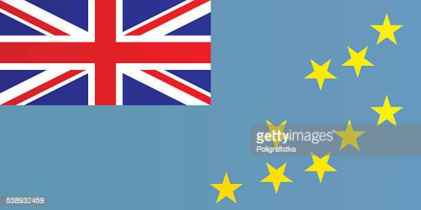 flag of tuvalu - tuvalu stock illustrations, clip art, cartoons, & icons