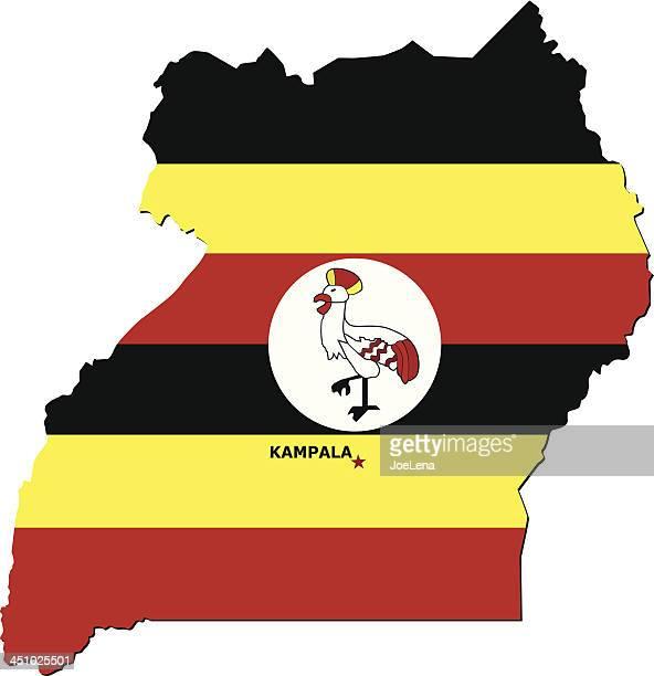 flag of uganda - uganda stock illustrations, clip art, cartoons, & icons