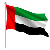 Flag of United Arab Emirates, vector illustration.