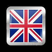 Flag of United Kingdom. Metal Icons