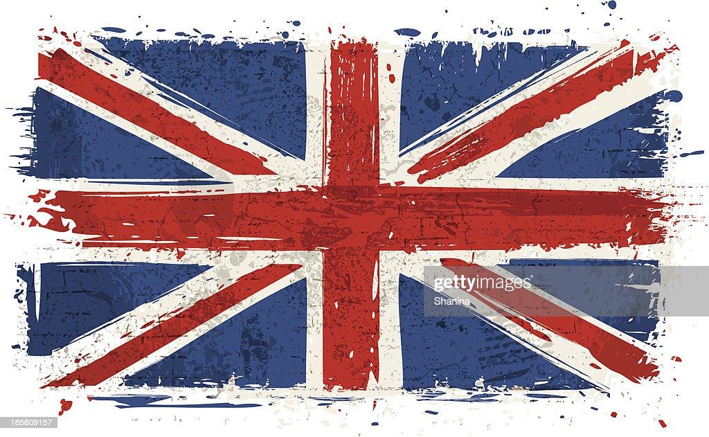 Flag of United Kingdom on Wall