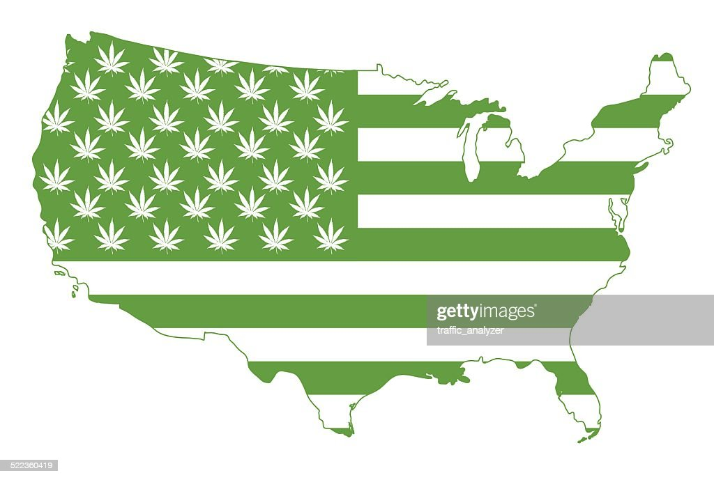 Flag of United States of America : stock illustration