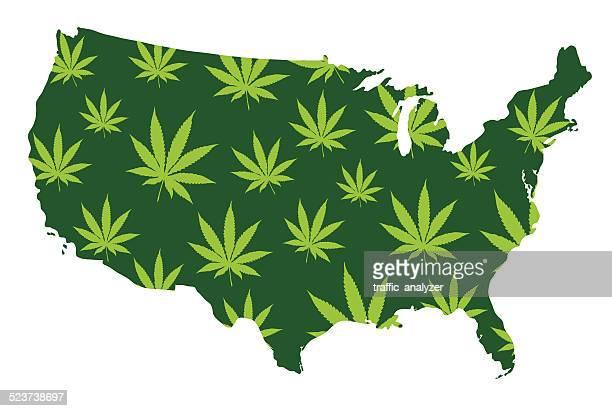 ilustraciones, imágenes clip art, dibujos animados e iconos de stock de bandera de estados unidos de américa - fumar marihuana