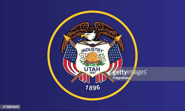 flag of utah - utah stock illustrations, clip art, cartoons, & icons