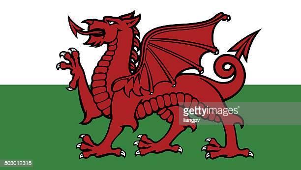 flag of wales - welsh flag stock illustrations