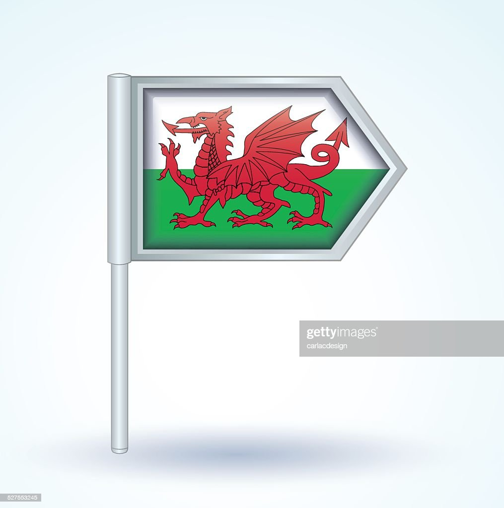 Flag of Wales, vector illustration