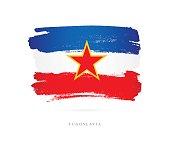 Flag of Yugoslavia. Vector illustration