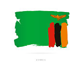 Flag of Zambia. Vector illustration